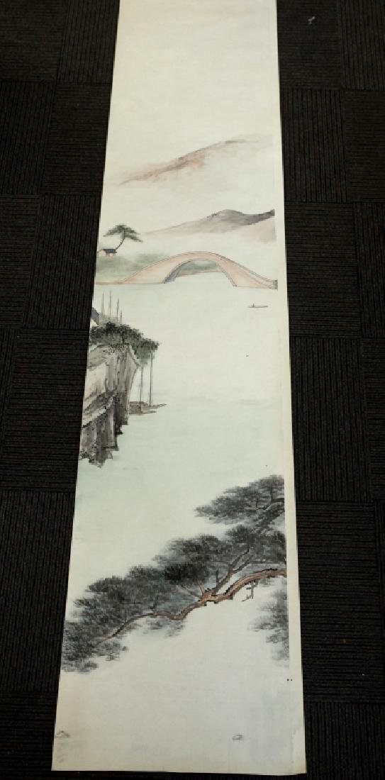 6 Chinese Ink & Color Paintings on Silk Landscape - 2