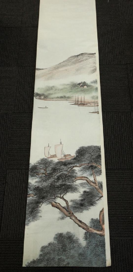 6 Chinese Ink & Color Paintings on Silk Landscape - 3