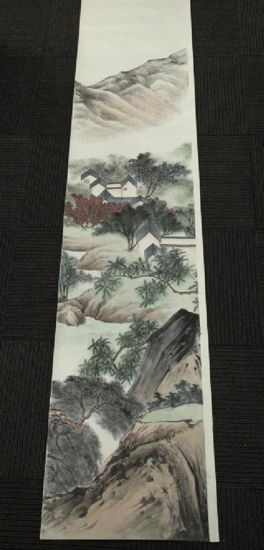 6 Chinese Ink & Color Paintings on Silk Landscape - 5