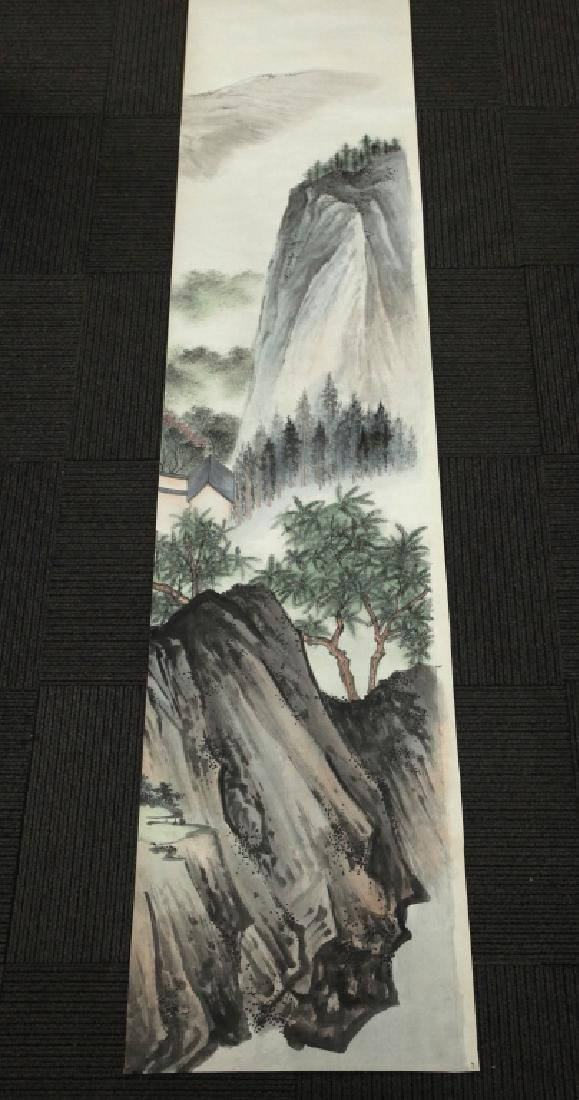 6 Chinese Ink & Color Paintings on Silk Landscape - 6