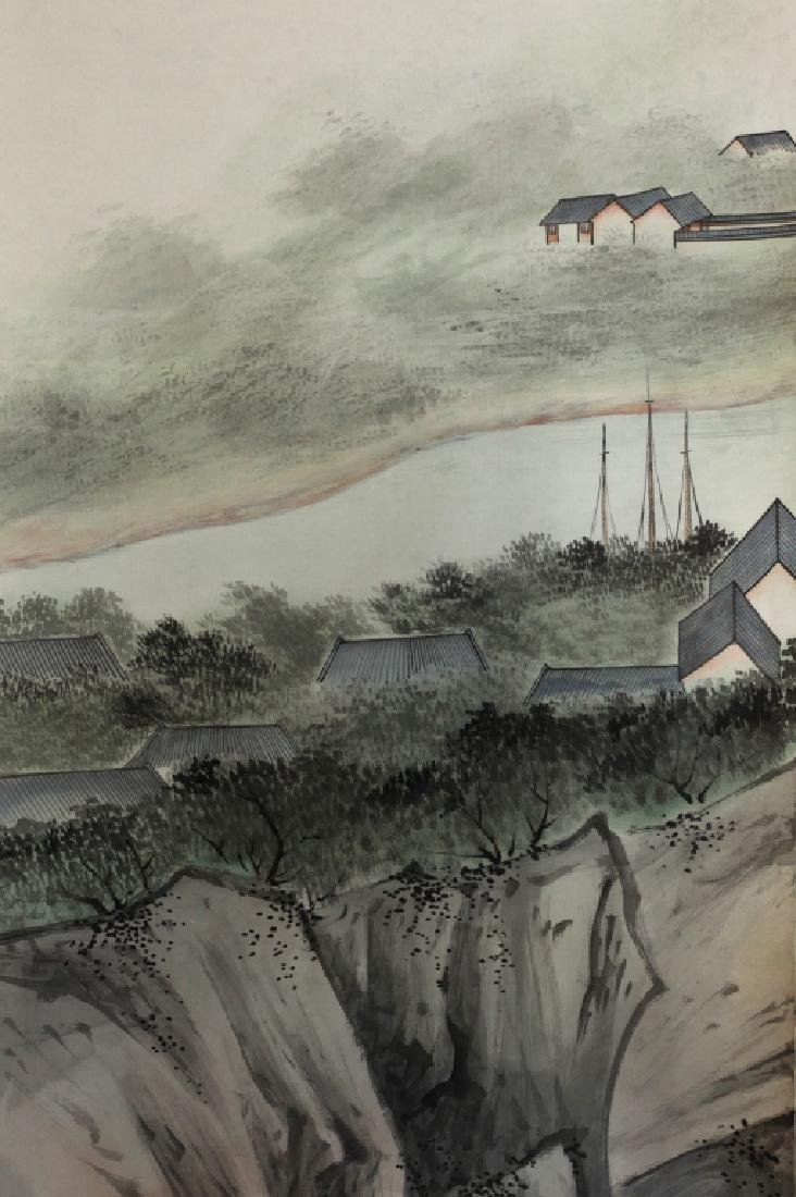 6 Chinese Ink & Color Paintings on Silk Landscape - 7