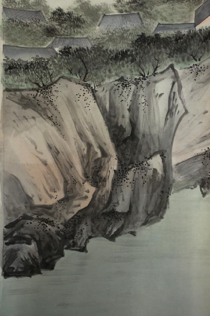 6 Chinese Ink & Color Paintings on Silk Landscape - 8