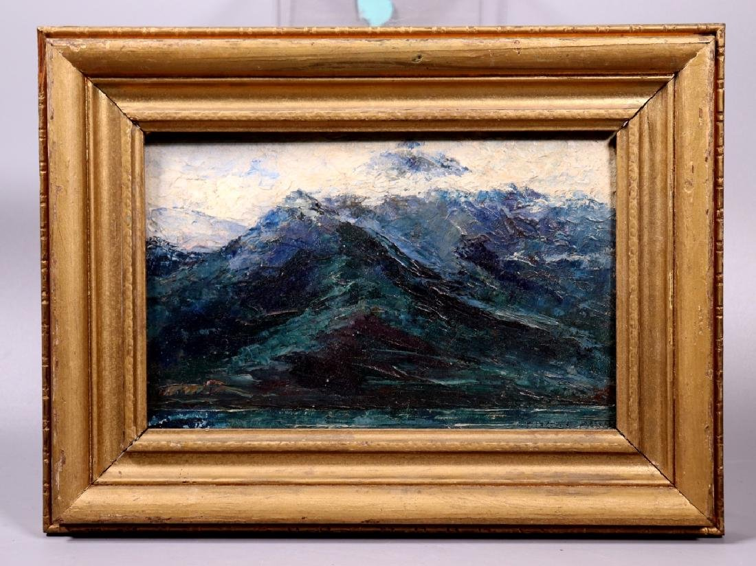 Edgar Alwin Payne; Oil Sketch of Mountains Signed