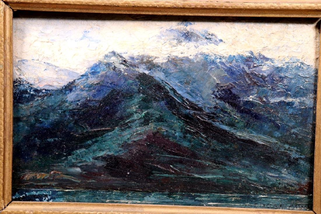 Edgar Alwin Payne; Oil Sketch of Mountains Signed - 2