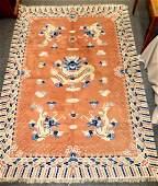 Chinese Brown  Blue 5 Dragon Carpet 955 X 68