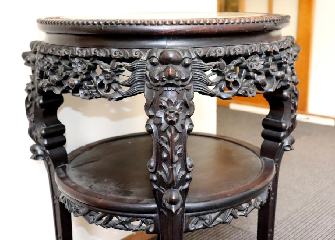 Lg Chinese Qing Famille Verte Porcelain Table - 10