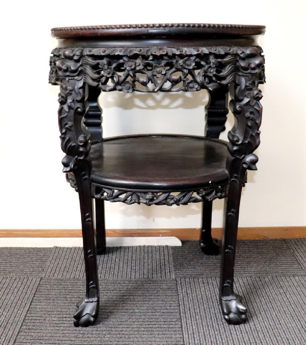 Lg Chinese Qing Famille Verte Porcelain Table - 3