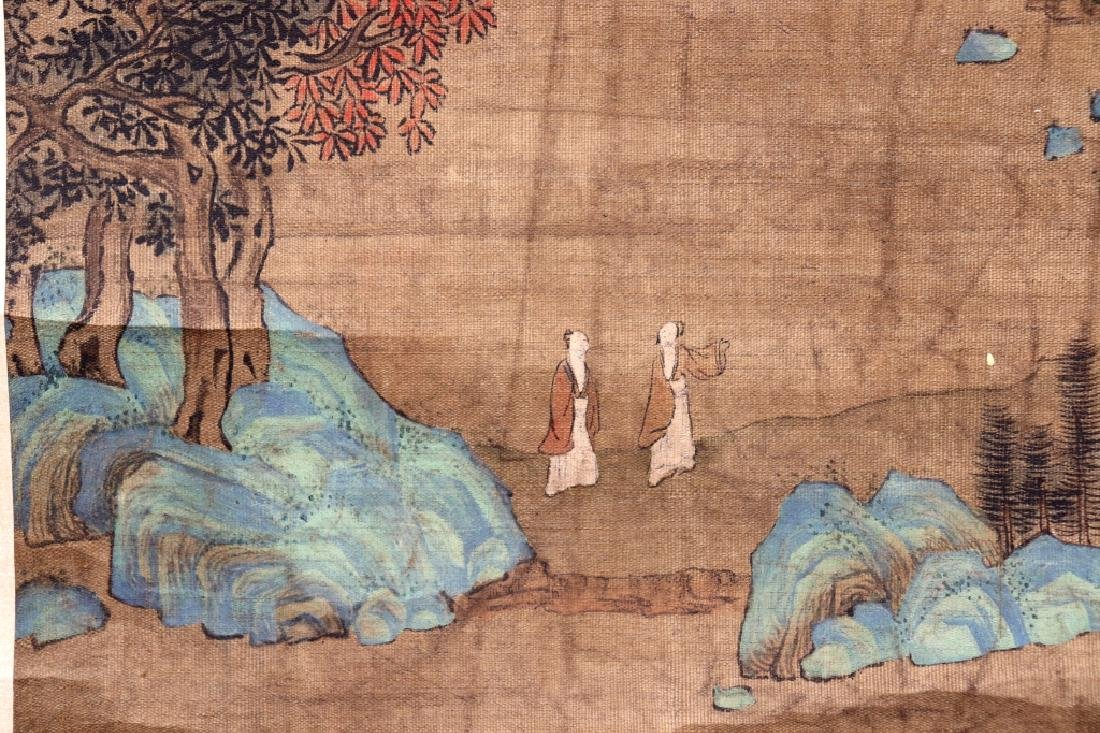 Chinese Qing Dynasty Painting on Silk of Mountains - 6
