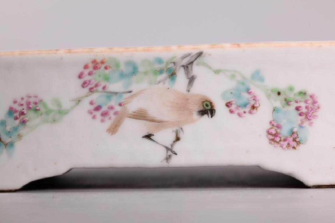 2 Chinese 19 C Enameled Porcelains, Bowl & Planter - 8