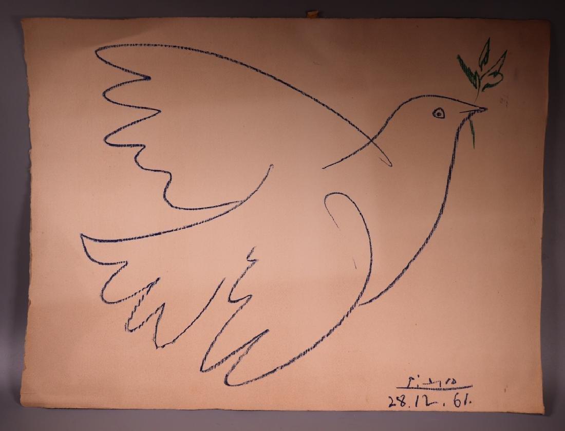 Pablo Picasso; Peace Dove Serigraph 1961