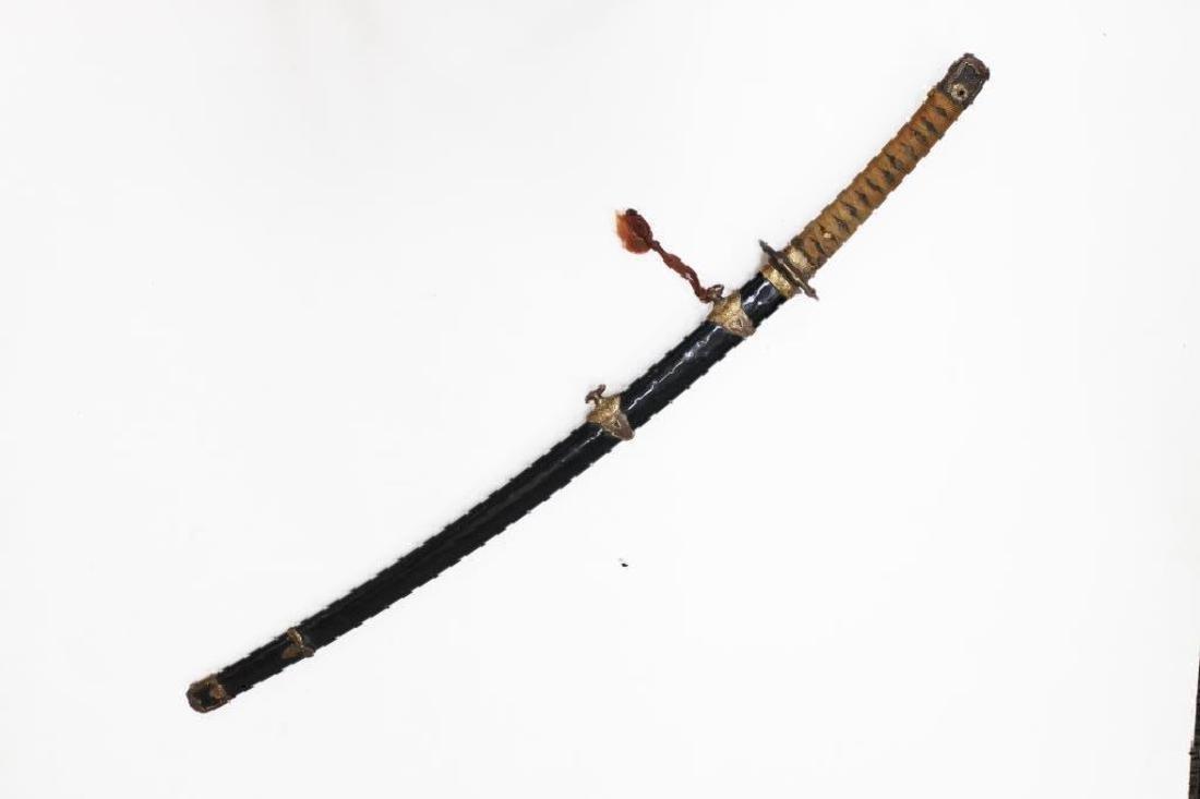Japanese 19 C Katana Long Sword & Sheath - 2