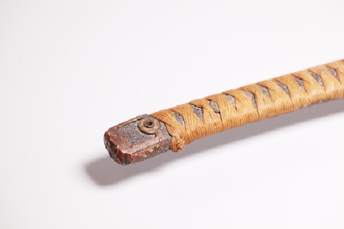 Japanese 19 C Katana Long Sword & Sheath - 6
