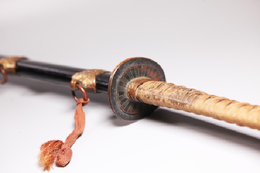 Japanese 19 C Katana Long Sword & Sheath - 8