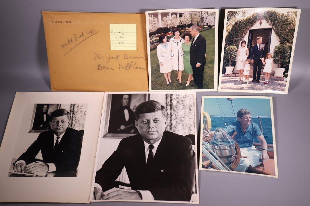 4 J F Kennedy Vintage Photographs, 1 L B Johnson