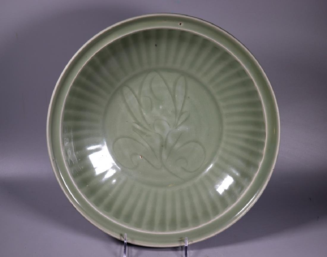 Chinese Ming Dynasty Longquan Celadon Large Plate