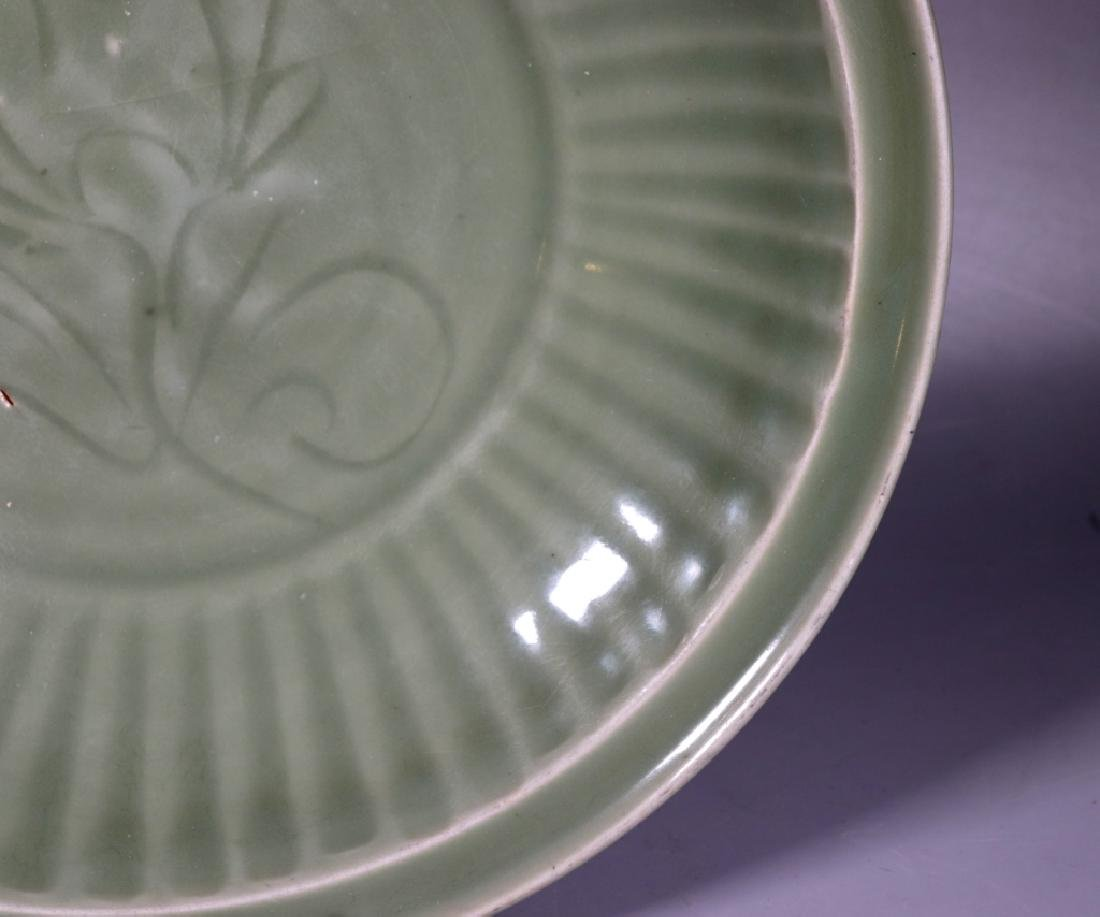 Chinese Ming Dynasty Longquan Celadon Large Plate - 3
