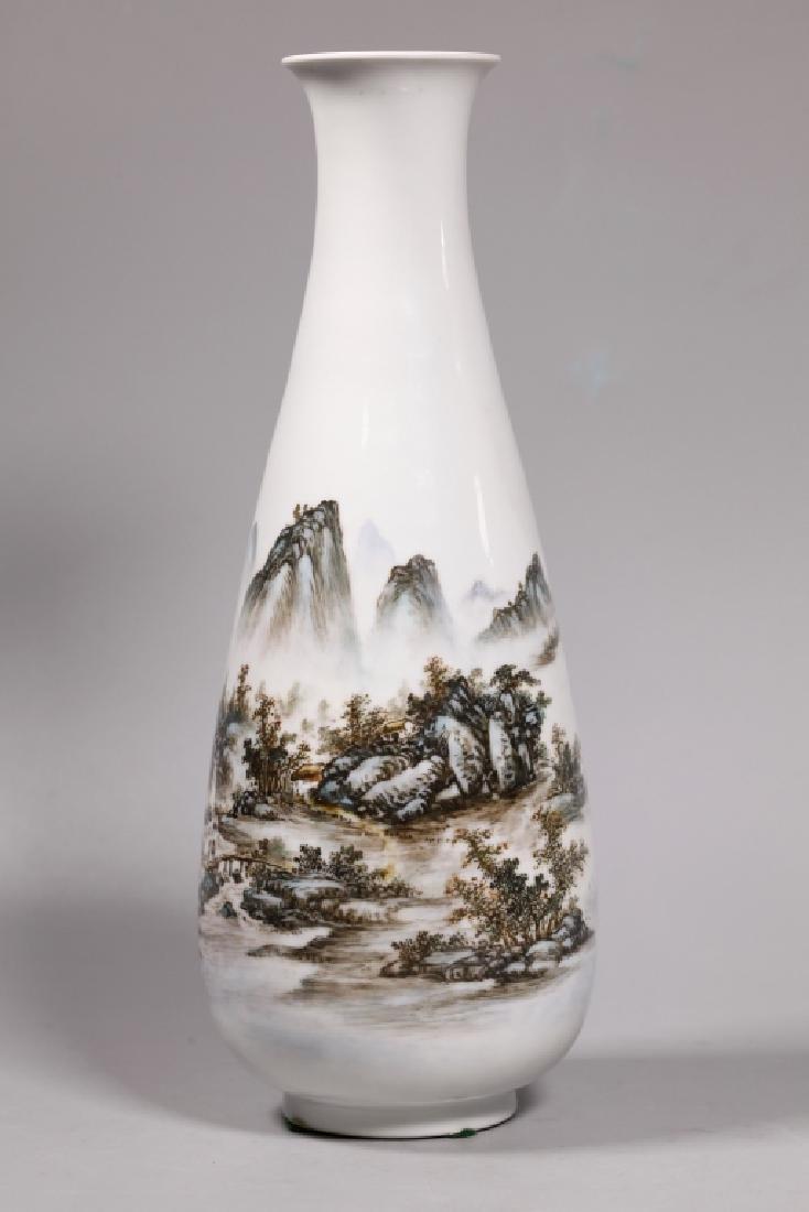 Wang Yeting; Chinese Artist Painted Porcelain Vase