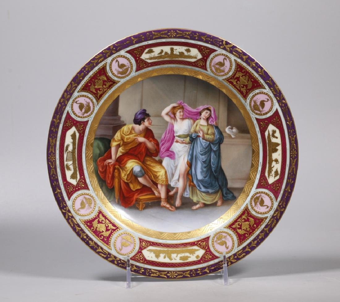 Royal Vienna Type Painted Porcelain Plate