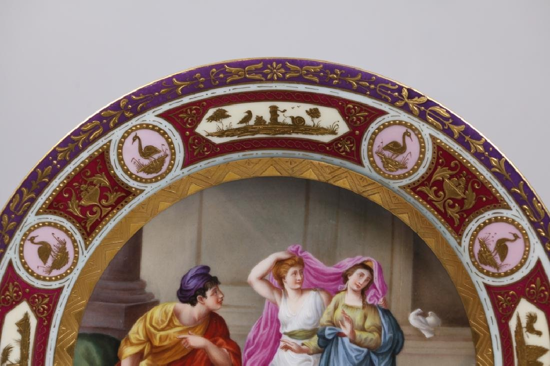 Royal Vienna Type Painted Porcelain Plate - 4