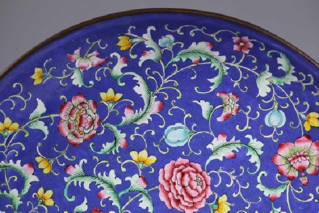 Lg Pr Qing Dynasty Chinese Canton Enamel Chargers - 4