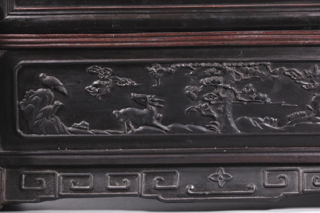 Chinese Dream Stone Inlaid Horizontal Table Screen - 9