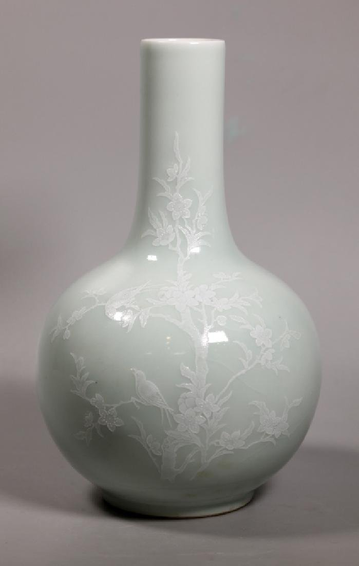 Chinese Pale Celadon Porcelain Vase White Slip - 2