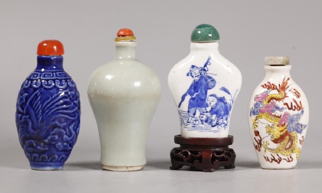 10 Antique Chinese Porcelain Snuff Bottles - 2