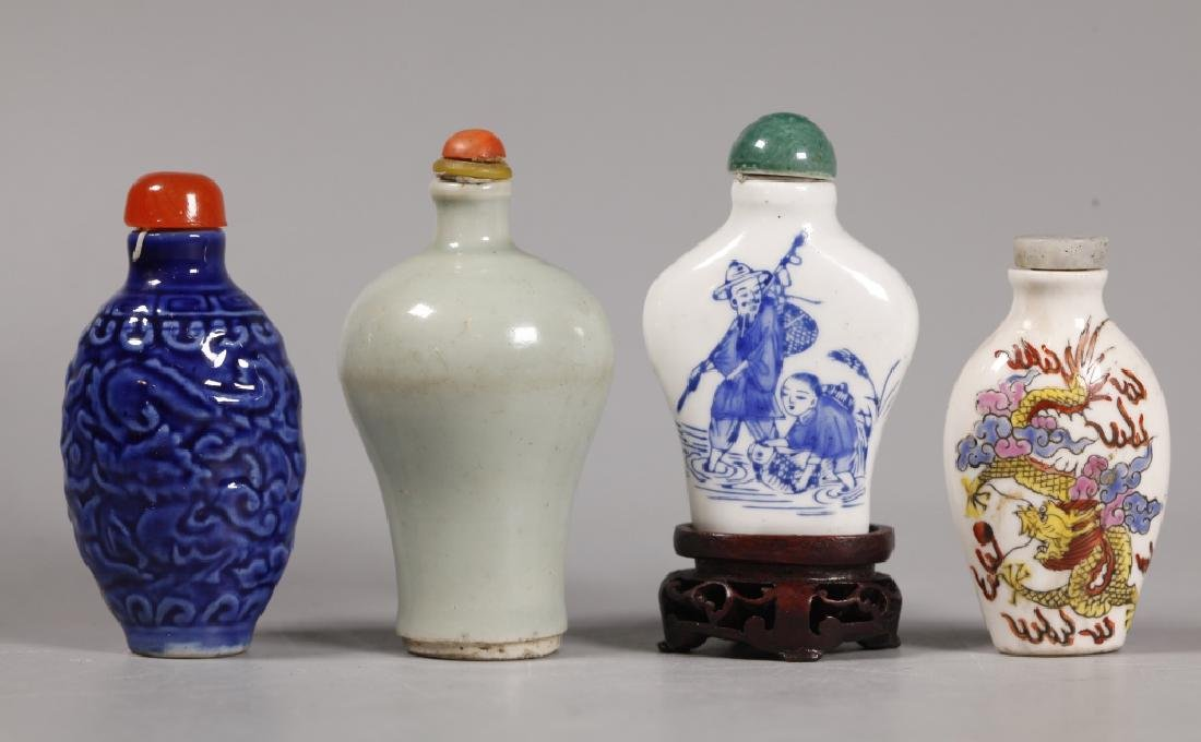 10 Antique Chinese Porcelain Snuff Bottles - 3