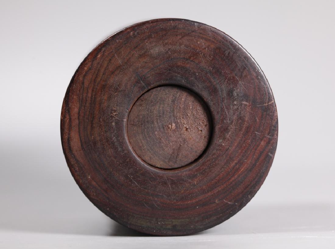 Chinese Figured Hardwood Brush Pot Bitong - 4