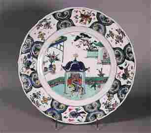 Chinese Kangxi Wucai Porcelain Arrival Charger