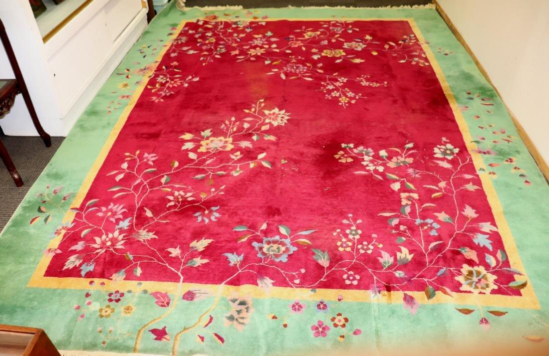 Chinese Art Deco Nichols Carpet 8 1/2' X 11 1/2'