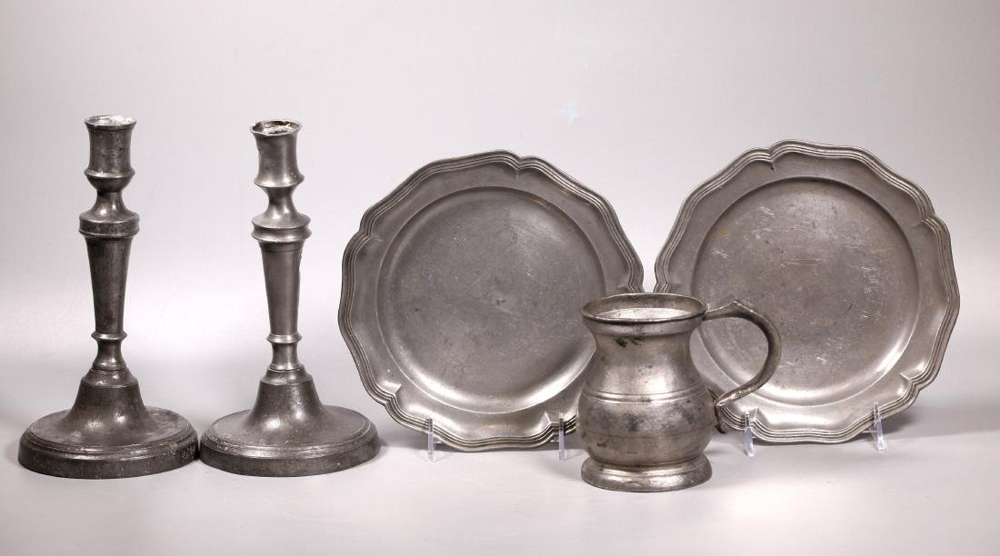 5 Pieces 19 Century London & American Pewter