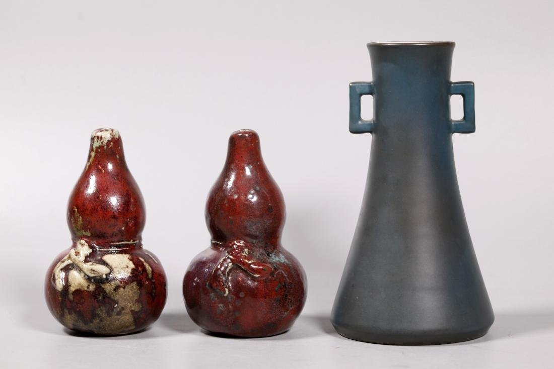 3 Chinese Porcelains, 1 Japanese Porcelain Vase