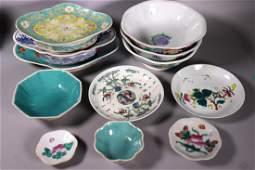 12 Chinese Enameled Porcelain Bowls