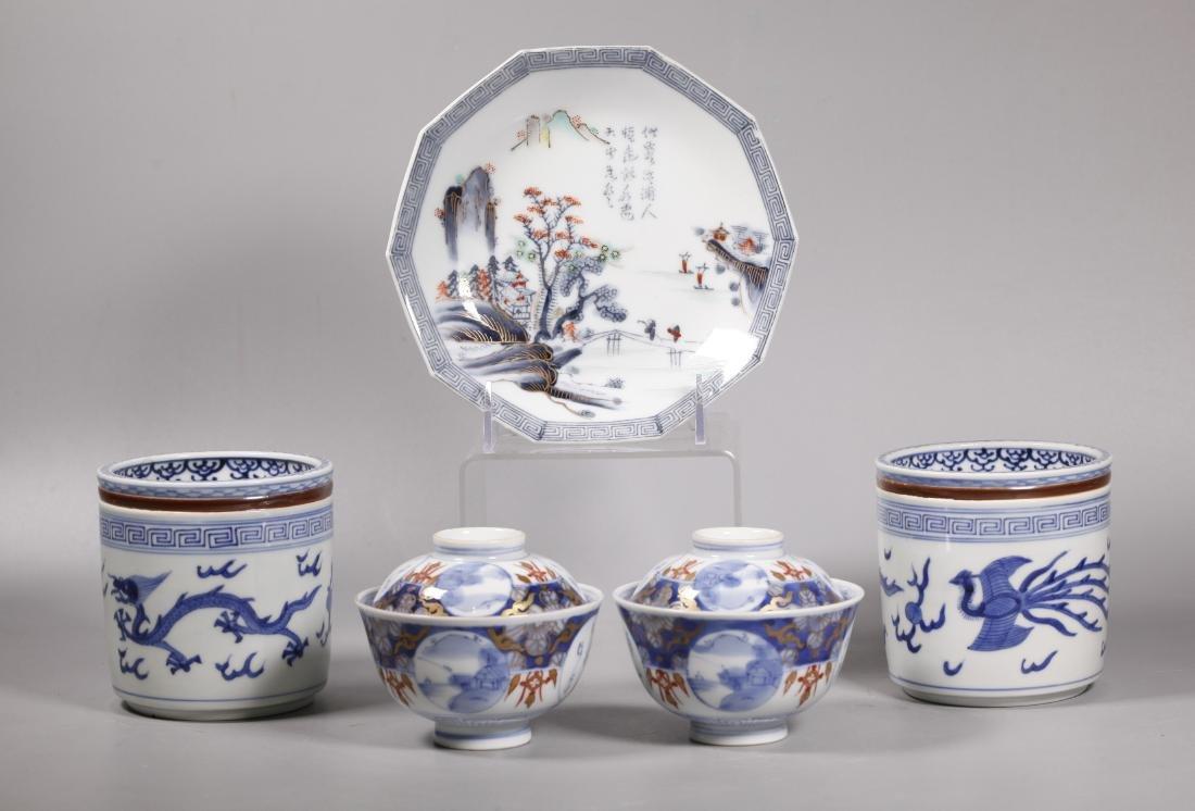 7 Japanese 19/20 Century Arita Imari Porcelains
