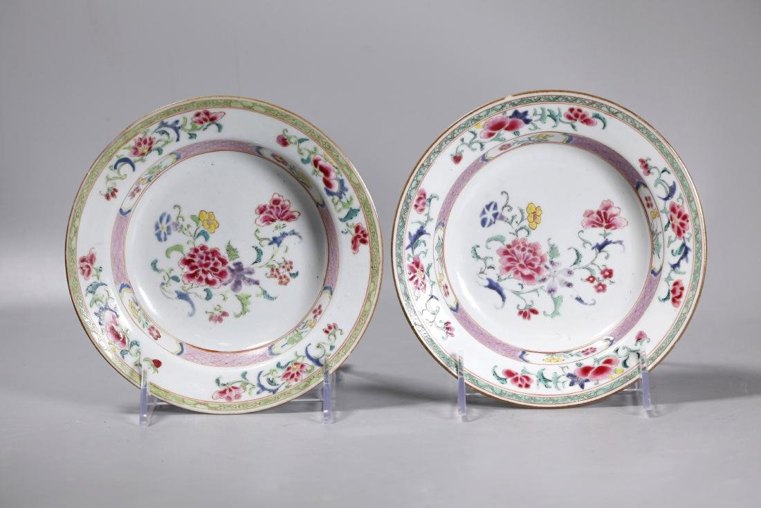 Pr Chinese Early 18 C Famille Rose Porcelain Bowls