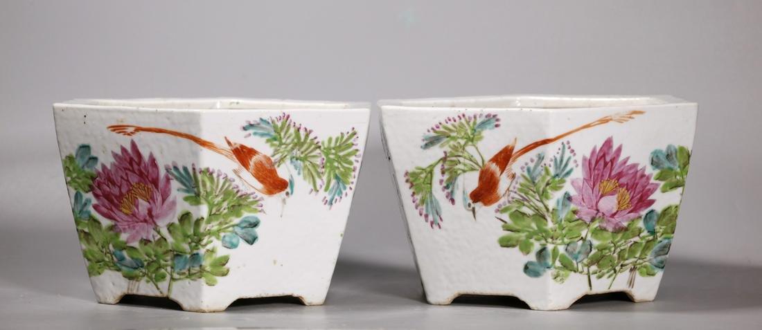 Hong Xing Shi Pr Chinese Qing Porcelain Planters