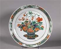 Christie's Chinese Kangxi Enamel Porcelain Plate