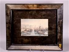 Mid Century Modern Mirror Frame; Allom China 1843