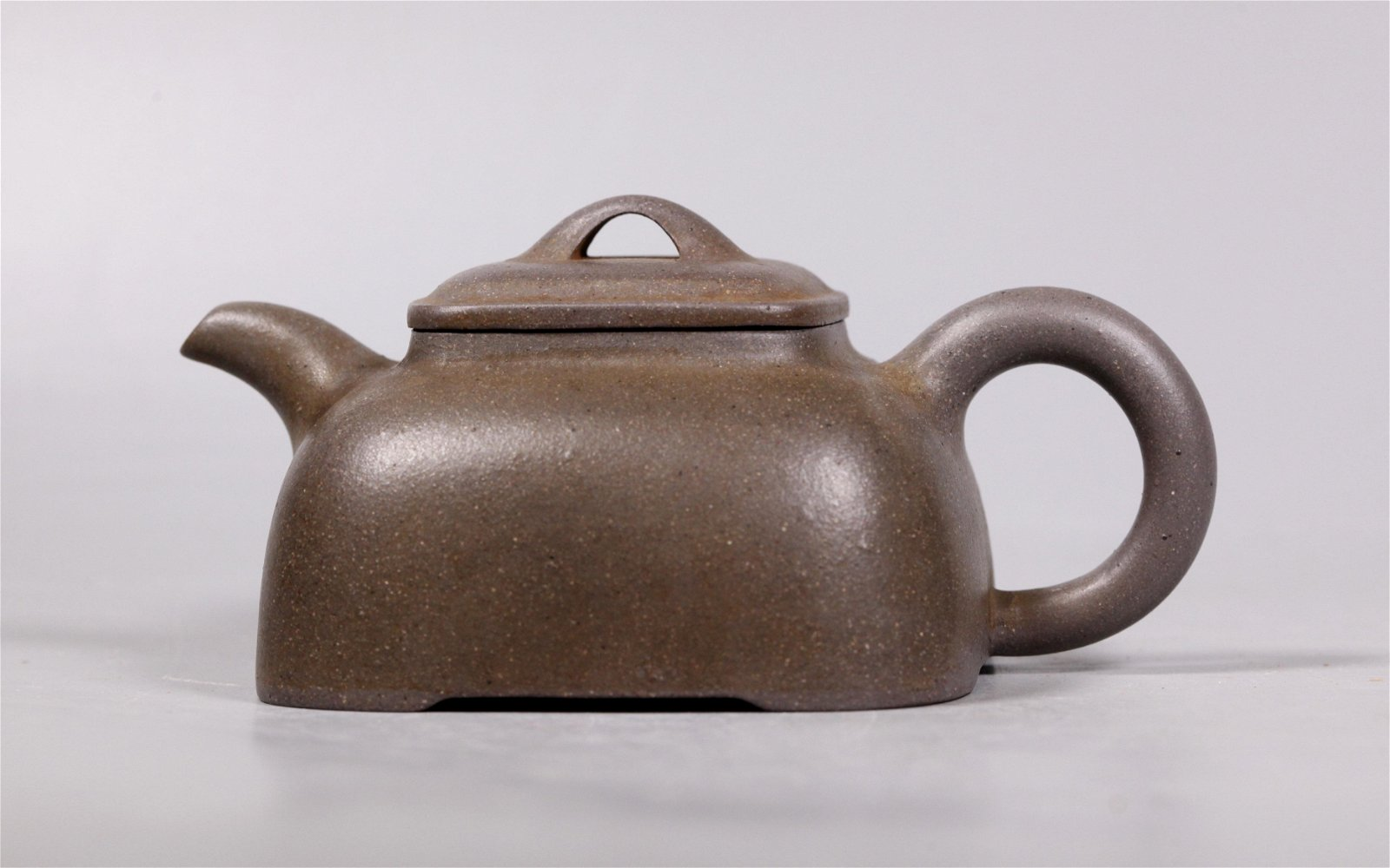 Chinese Yixing 4 Sided Teapot on 4 Feet