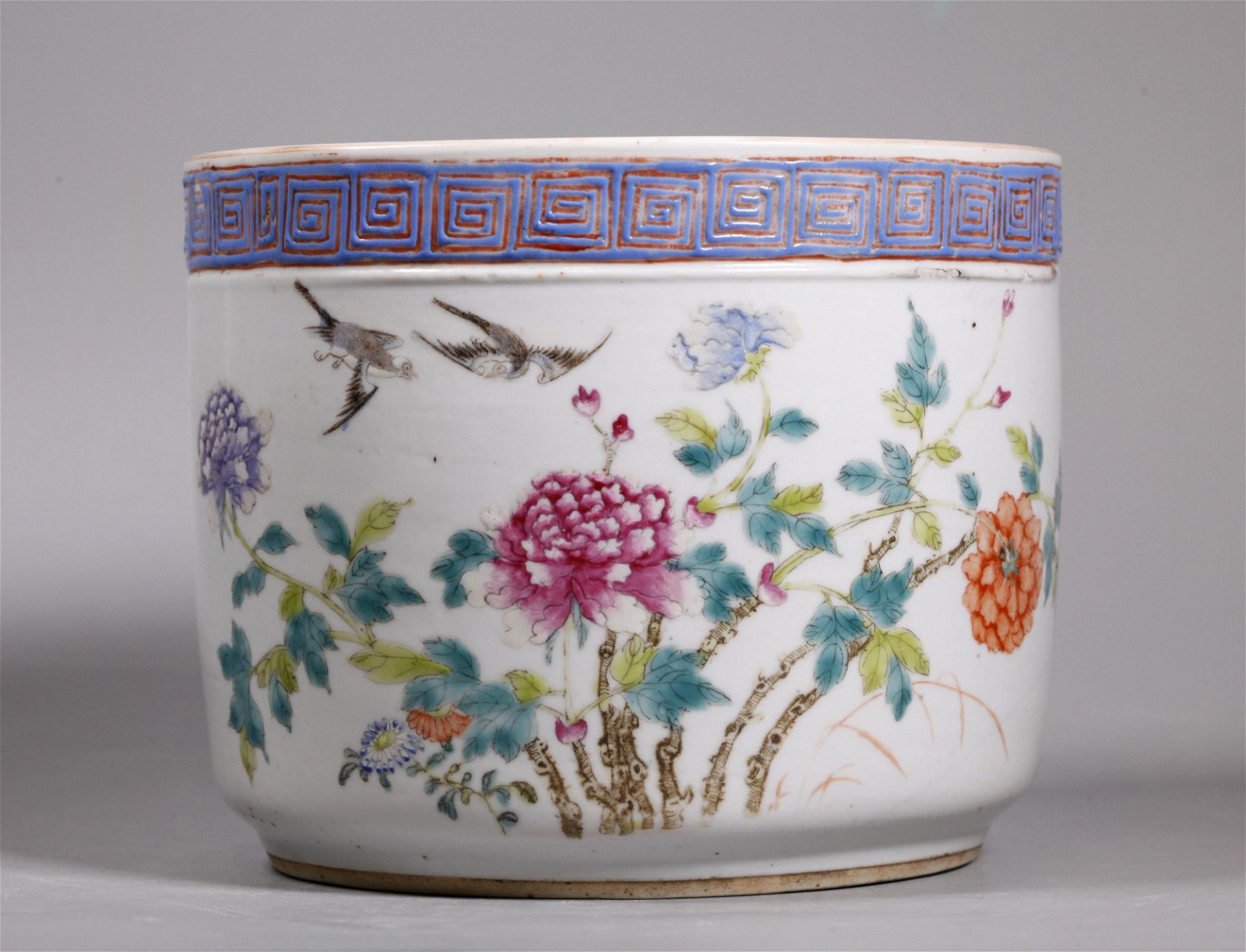 Chinese Qing Enameled Porcelain Plant Holder