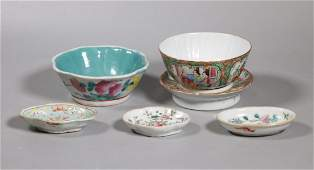 5 Chinese Qing Dynasty Enameled Porcelains