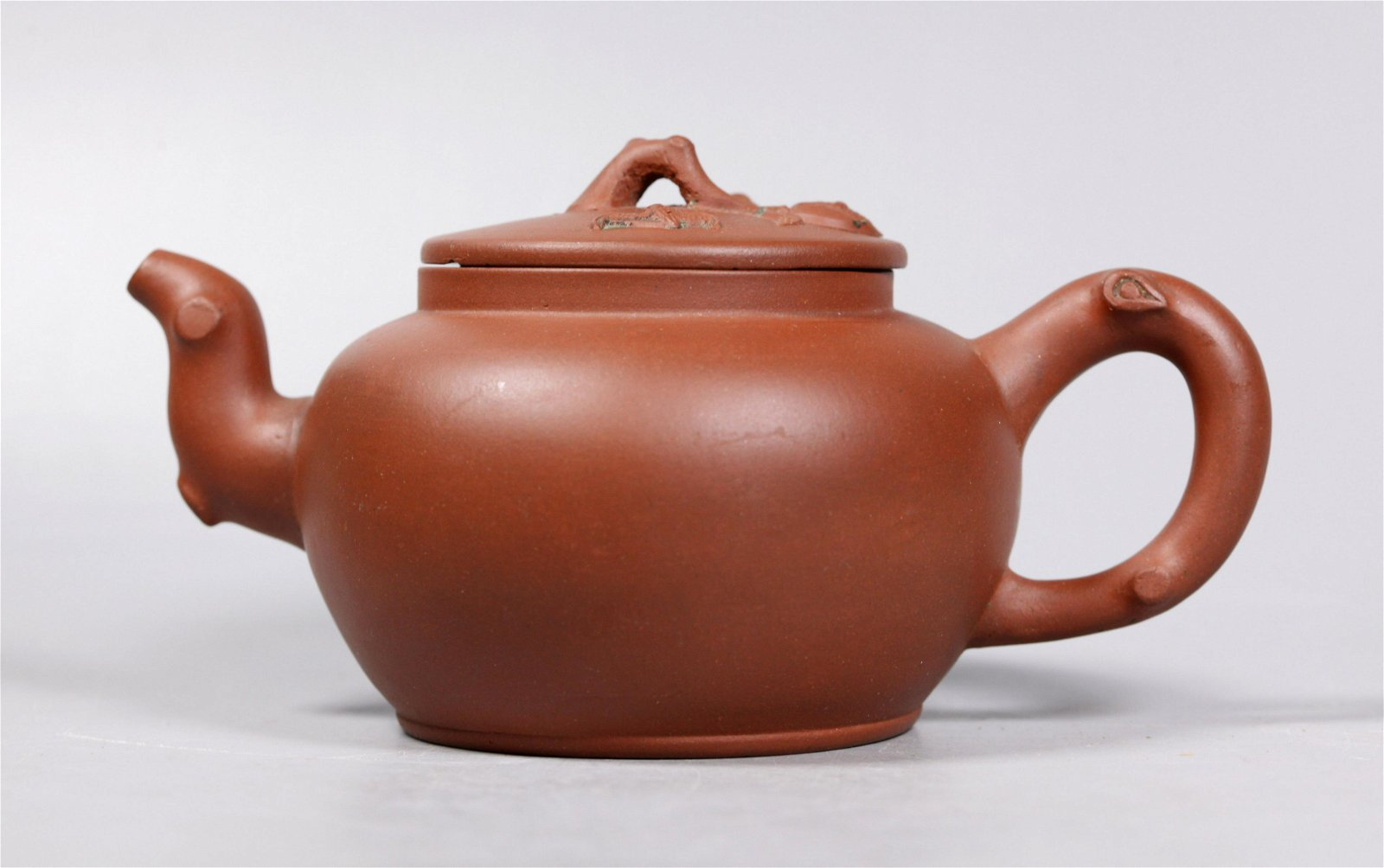 Chinese 19/20 Century Yixing Peach & Bat Teapot
