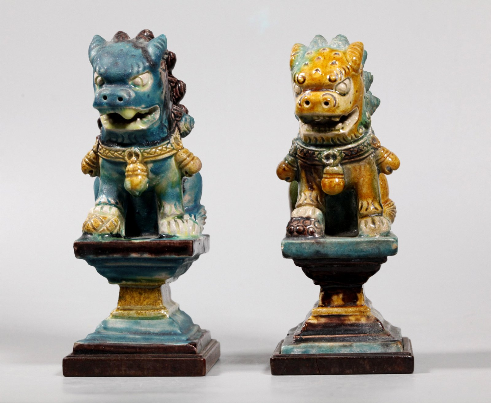 Chinese Ming / Qing Fahua Roof Tile Buddhist Lions