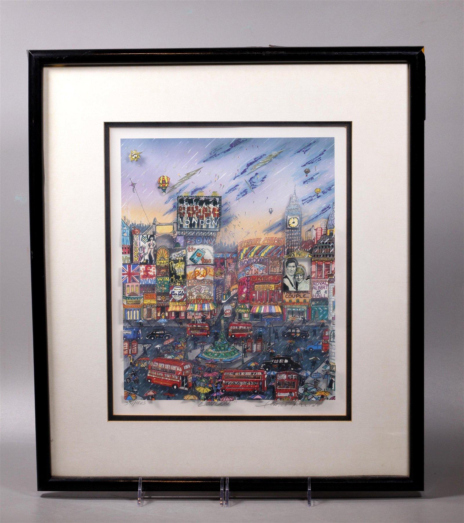 Charles Fazzino; London 3-D Serigraph 1997