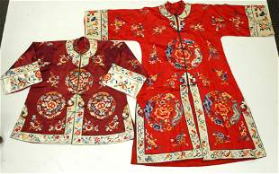 Chinese Satin Stitch Embroidered Coat & Jacket