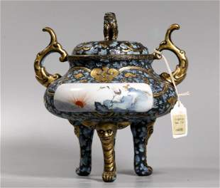 Christie's Chinese Qing Porcelain Incense Burner
