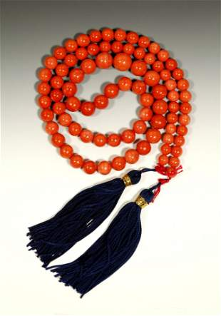Chinese Rich Coral Beads; 92.5G
