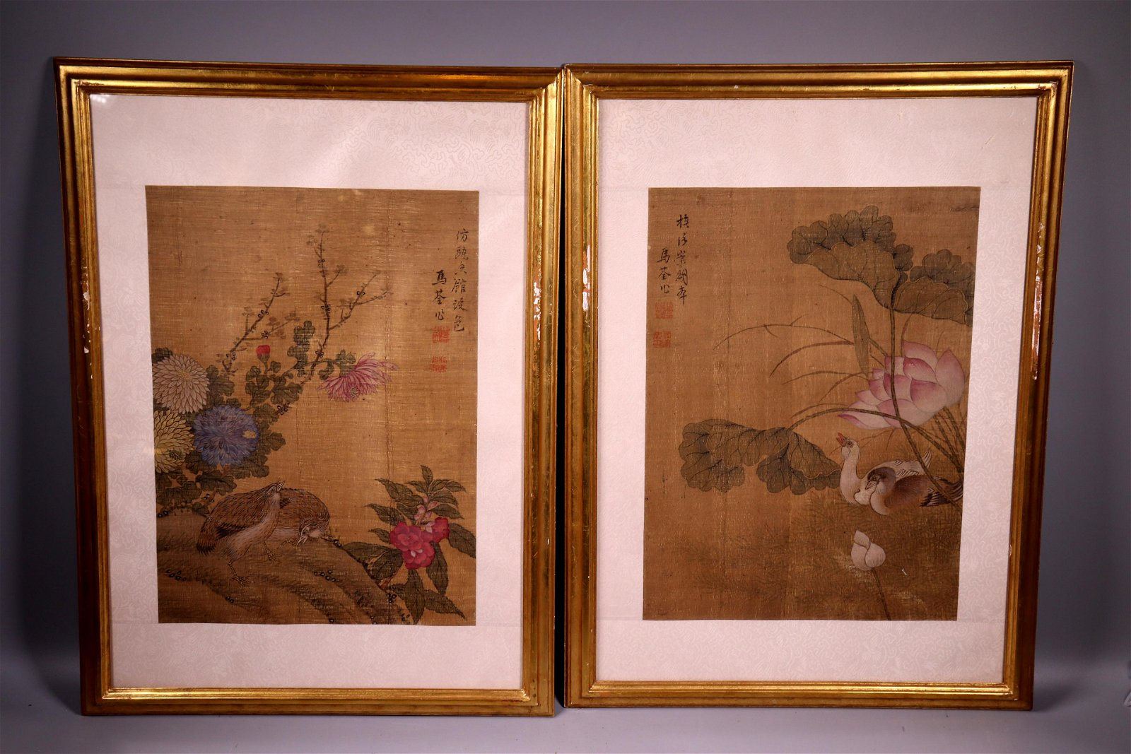 2 - Ma Quan Chinese Paintings on Silk