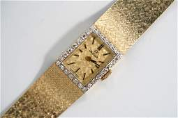 Vintage Omega 14K  Diamond Lady